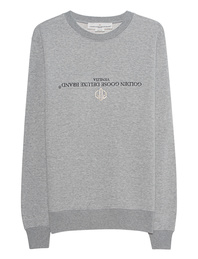 GOLDEN GOOSE DELUXE BRAND Logo Sweat Grey