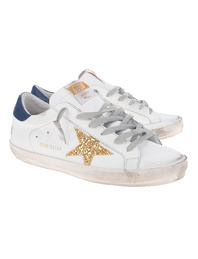 GOLDEN GOOSE DELUXE BRAND Superstar Gold Glitter White