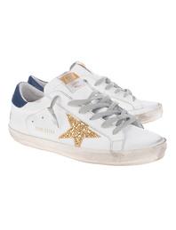 GOLDEN GOOSE DELUXE BRAND Superstar Gold Glitter White