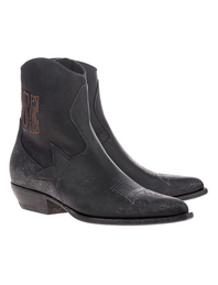 GOLDEN GOOSE DELUXE BRAND Courtney Black Boots Black