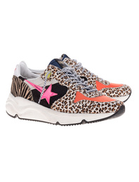 GOLDEN GOOSE DELUXE BRAND Running Sole Zoo Puzzle Multicolor