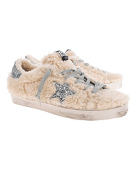 GOLDEN GOOSE DELUXE BRAND Superstar Shearling Off White