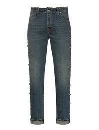 GOLDEN GOOSE DELUXE BRAND Amy Boyfriend Dirty Wash Embroided Band