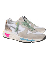 GOLDEN GOOSE DELUXE BRAND Running Sole Glitter Ice Suede Multicolor