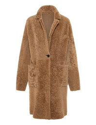GIORGIO BRATO Reversible Lamb Fur Dune Beige
