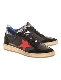 GOLDEN GOOSE DELUXE BRAND Mid Star Leather Black