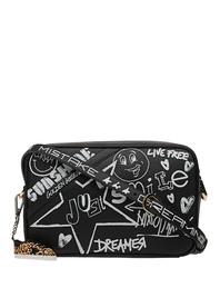 GOLDEN GOOSE DELUXE BRAND Star Bag Hammered Leather Black