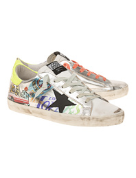 GOLDEN GOOSE DELUXE BRAND Superstar Stickers Neon Silver Multicolor