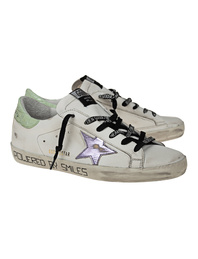 GOLDEN GOOSE DELUXE BRAND Super Star Laminated Cocco White