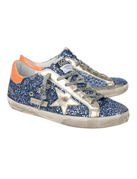 GOLDEN GOOSE DELUXE BRAND Superstar Glitter Upper Blue