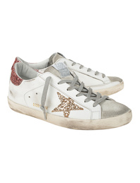 GOLDEN GOOSE DELUXE BRAND Superstar Suede Toe Leather White