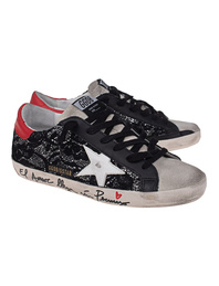 GOLDEN GOOSE DELUXE BRAND Super Star Glitter Black