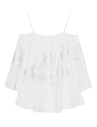 JADICTED Off-Shoulder Flower White