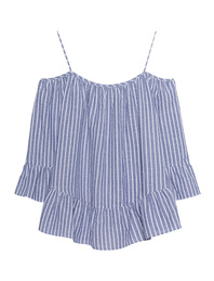 JADICTED Off Shoulder Blue White