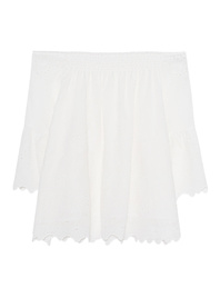 JADICTED Off Shoulder White