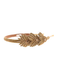 Deepa Gurnani Ornate Metal Gold
