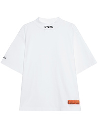 HERON PRESTON Logo Turtle Neck White