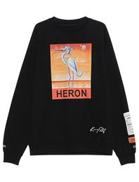 HERON PRESTON New Heron Print Black