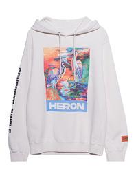 HERON PRESTON Colors Print Hood Off-White