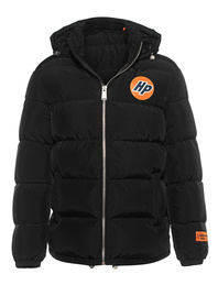 HERON PRESTON Nylon Logo Puffer Black