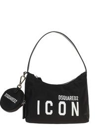 DSQUARED2 Mini Hobo Icon Nylon Black