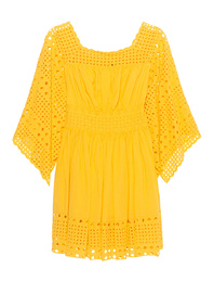 PLEIN SUD JEANIUS Hole Embroidery Yellow