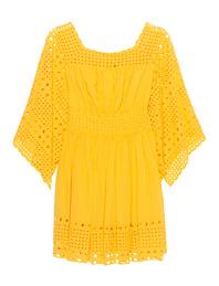 PLEIN SUD JEANIUS Hole Embroidery Yellow