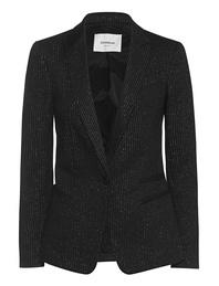 Dondup Pinstripe Blazer Black