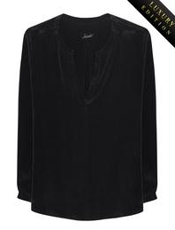 JADICTED Box Pleat Heavy Silk Black