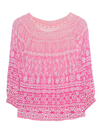 JADICTED Off-Shoulder Pink Ethno