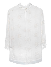JADICTED Flower Silk Off-White