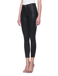 J BRAND Coated Alana High Rise Crop Skinny Black