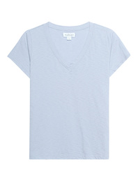 VELVET BY GRAHAM & SPENCER Jill V-Neck Light Blue