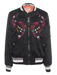 Schott NYC Bomber Embroidery Black
