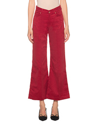 7 FOR ALL MANKIND Lotta Cropped Cordury Red