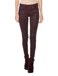 7 FOR ALL MANKIND Ruby Coated Snakeskin Red