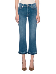 7 FOR ALL MANKIND Cropped Flare Blue