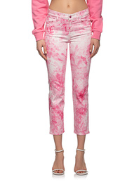 7 FOR ALL MANKIND Straight Tie Dye Euphoria Pink