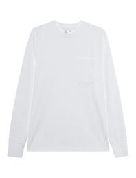 HELMUT LANG Rubber Logo Pocket Chalk White