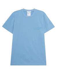 HELMUT LANG Logo Stock Tee Pale Saphire