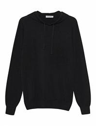 Majestic Filatures  Fine Knit Hood Black