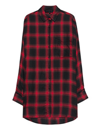 Kendall + Kylie Oversized Plaid Red