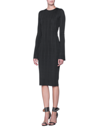 Kendall + Kylie Stretch Dress Black