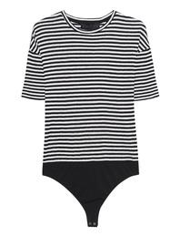 Kendall + Kylie Stripe Body Black White
