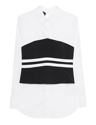 Kendall + Kylie Corsage Shirt Black White