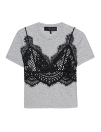 Kendall + Kylie Lace Cami Heather Grey