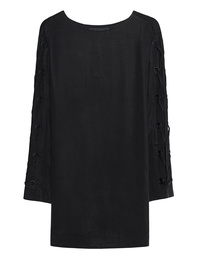 Kendall + Kylie Lace Bell Sleeve Black