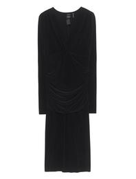 NORMA KAMALI Shirred Waist Dress Black