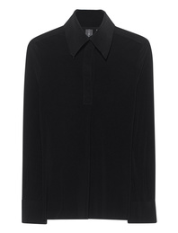 NORMA KAMALI Polo Long Sleeve Black