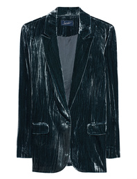 JADICTED Blazer Velvet Blue Black